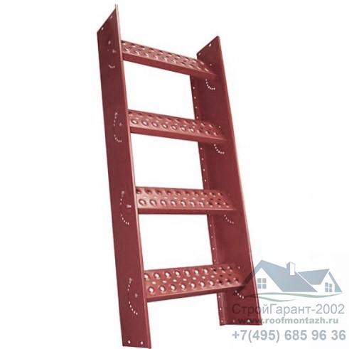 скатная лестница со ступенями
