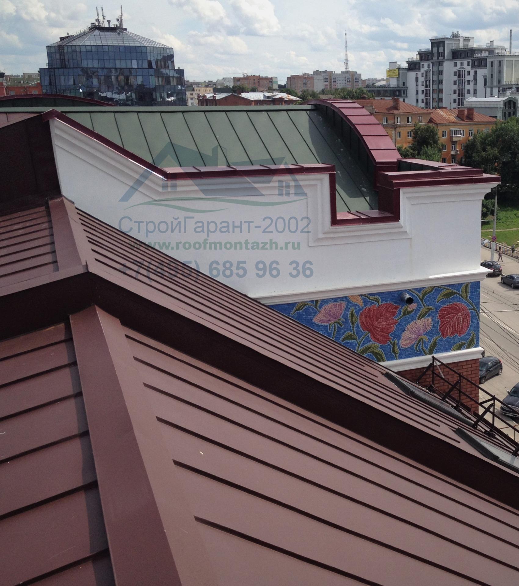 покрыть крышу фальцем